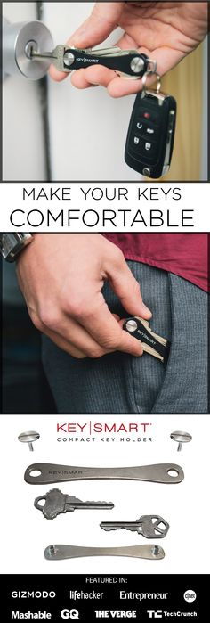 Here's an awesome way to minimize your every day carry and organize your keys. This compact device keeps your keys folded together like a pocket knife, so you won't get poked in the legs anymore! Its simple and stylish, made in the USA, and holds all kinds of accessories such as flash drives, bottle openers and other cool utilities! Use code ORGANIZE15 in the next 30 days for 15% off!