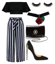 """""""black n white"""" by annathomson ❤ liked on Polyvore featuring Monsoon, Cerasella Milano, Chanel and polyvoreeditorial"""