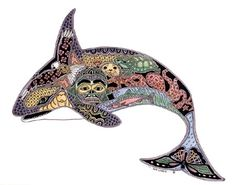 The orca print...really...this is amazing....(the tattoo dilema...this or the dolphin?)