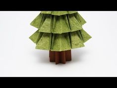 Christmas Origami Instructions: Fir Tree (Francesco Guarnieri) - YouTube
