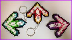 Perler DDR Arrow Keychain or Necklace. $5.00, via Etsy.