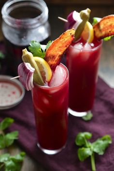 Beet Infused Bloody Mary recipe: But what we love is that garnish!