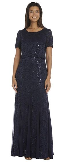 R&M Richards Mother of the Bride Fully Lace Dress - The Dress Outlet
