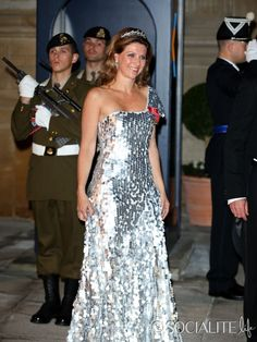 Princess Martha Louise of Norway attends the Gala dinner for the wedding of Prince Guillaume Of Luxembourg