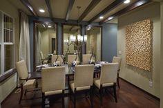 Ryland Homes Pioneer Ridge Modesl - contemporary - Dining Room - Denver - TRIO Environments Beige Dining Room, Dining Room Wall Decor, Dining Room Design, Dining Rooms, Home Design, Interior Design, Design Ideas, Ryland Homes, Blue Rooms