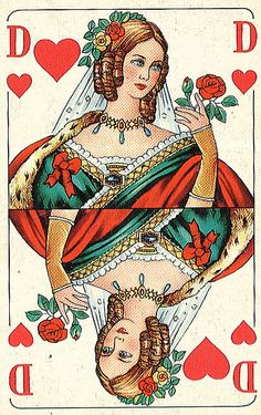 Queen of Hearts German Card