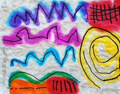Kandinsky line painting--Good, simple, art lesson for kindergarten Kandinsky For Kids, Kandinsky Art, Kindergarten Art Lessons, Art Lessons Elementary, Line Art Projects, Principles Of Art, Preschool Art, Elements Of Art, Art Lesson Plans