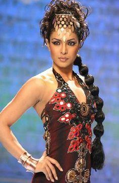 Priyanka Chopra in the movie Fashion. Love the balloon ponytail.