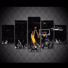 Style Your Home Today With This Amazing 5 Panel Kobe Bryant Basketball Player Framed Wall Canvas For $99.00  Discover more canvas selection here http://www.octotreasures.com  If you want to create a customized canvas by printing your own pictures or photos, please contact us.