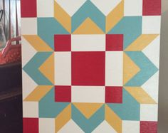 This is a 2 x 2 barn quilt that can be used on a barn, garage, shed, any outbuilding, or even indoors. The wood is exterior grade MDO with good exterior grade paint for sustainability and lasting color. Barn quilts are made to order. Please allow 1 weeks. Barn Quilt Designs, Barn Quilt Patterns, Quilting Designs, Barn Signs, Wood Signs, Painted Barn Quilts, Wooden Barn, Barn Art, Square Quilt