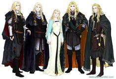 Aegnor, Angrod, Galadriel, Finrod, Orodreth http://dakkun39.tumblr.com/