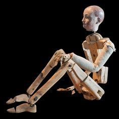 """Wooden Skeletal Mannequin, 60""""/16""""/6"""""""