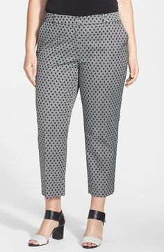Anne Klein Diamond Jacquard Slim Ankle Pants (Plus Size) #plussizepants #plussizefashion #plussizeclothes