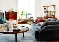 Mikael Beckman via Svenskt Tenn {white vintage scandinavian living room} by recent settlers, via Flickr