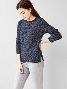 Moss-stitch raglan sweater Product Image