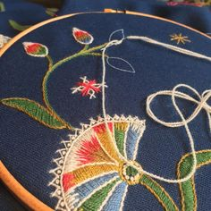 Wool embroidery on plain weave wool fabric. Wool Embroidery, Wool Fabric, Oslo, Weave, Vest
