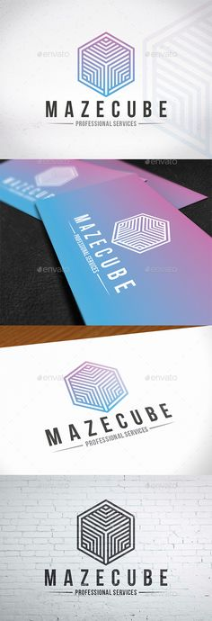 Maze Cube Logo Design - Abstract Logo Templates