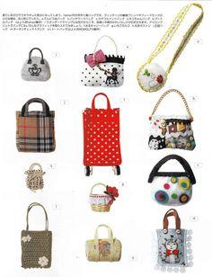 Miniature 23 Bags Tutorial for 20cm 22 cm 27cm dolls pdf E PATTERN in Japanese (blythe momoko middie odeco nikki pullip dolls). $3.50, via Etsy.