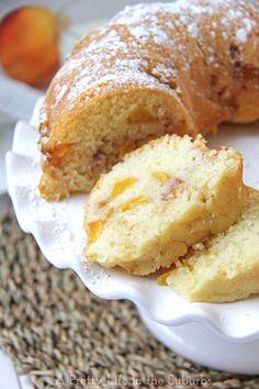 Peach Cake Recipes, Fresh Peach Recipes, Pound Cake Recipes, Fresh Peach Cupcakes Recipe, Peach Cookies Recipe, Dessert Recipes, Pumpkin Cake Recipes, Brunch Recipes, Cooker Recipes