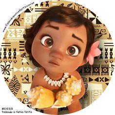 5 Disney Hawaiian Princess MOANA 3D Bottle Cap Necklace Birthday Party Favors #1