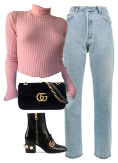 """""""Untitled #2037"""" by deamntr ❤ liked on Polyvore featuring RE/DONE and Gucci"""
