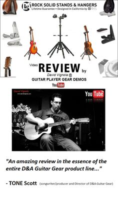 See an entire D&A Guitar Gear 'full' product-line review by David Vignola (VISION Recording Studios), the host of Guitar Player Gear Demos TV on YouTube!! And, at the end of the video learn how YOU can WIN a new HYDRA triple guitar stand courtesy of D&A and Guitar Player Gear Demos TV! See the review! > (click the pic)
