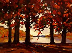 Lakeside Autumn by Min Ma