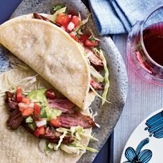 Chile-Spiced Skirt Steak Tacos   Food & Wine http://www.foodandwine.com/recipes/chile-spiced-skirt-steak-tacos