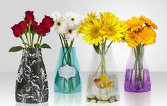 4 Decorative Collapsible Vases on $12
