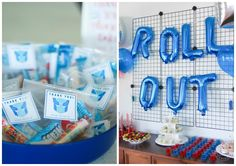 Modern Transformers Birthday Party for Kids. Easy party favors, simple backdrop and kid friendly food.