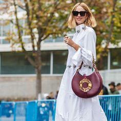 That burgundy @Loewe 'Joyce' bag with @Candela_________ #lusthave #Paris
