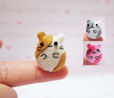 Felt Miniature Felted Miniature Hamster Felted by catwalkangel