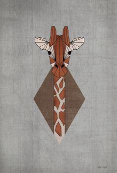 Geometric Animals II by Paula Maia, via Behance