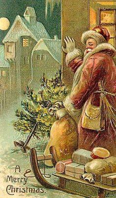 saint Nicholas vintage card