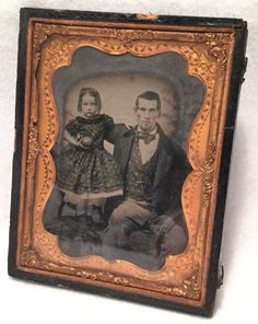 C 1850s Quarter Plate Daguerreotype w Tint Young Father Amp Daughter | eBay