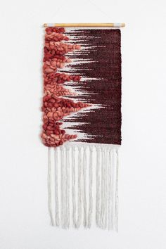 This weaving is inspired by the glacial movements of growing things in nature, as well as its tendency to . Weaving Textiles, Weaving Art, Loom Weaving, Tapestry Weaving, Wall Tapestry, Hand Weaving, Yarn Wall Art, Weaving Wall Hanging, Weaving Projects