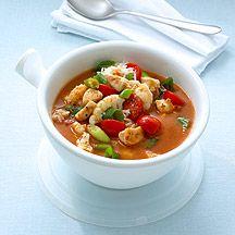 Getestet: Indische Hühnersuppe PP 9 Sehr lecker Falls von vorbereitet, den Reis erst zufügen, wenn die Gäste kommen und die Suppe aufgewärmt wird.