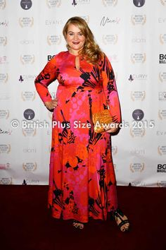 418b0dfcedc Anna Scholz in Anna Scholz at the British Plus Size Awards   Winner BEST  DESIGNER 2015