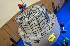 Jax's Spiderman 1st Birthday Cake