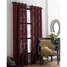 J queen new york hamilton 84 inch grommet window curtain for Jcpenney living room curtains