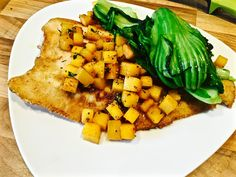 Whole Lemon Sole, Mustard leaves and Turnips cooked in Cider
