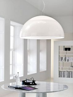contemporary white methacrylate pendant lamp CUPOLONE cattelan italia