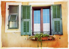 Italian Windows #5, Laigueglia by h_roach - Moving and will be busy for a while, via Flickr