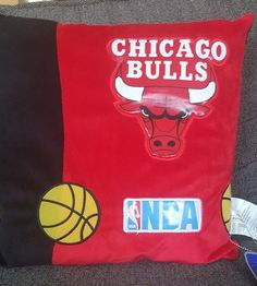 "NBA Square Chicago Bull 15"" Pillow   Sports Mem, Cards & Fan Shop, Fan Apparel & Souvenirs, Basketball-NBA   eBay!"