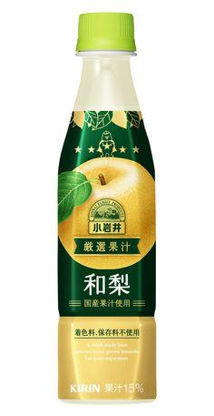 小岩井 厳選果汁 和梨 Juice Packaging, Beverage Packaging, Bottle Packaging, Label Design, Packaging Design, Lemon Beer, Pet Bottle, Plastic Bottle, Japanese Packaging