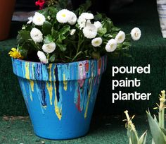 Tutorial: Poured Paint Planter & Planting Tips