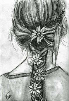 Braid with flowers beautiful art