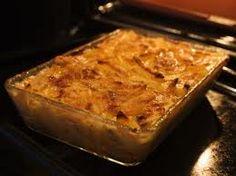 Easy to do Potato gratin with turnip, carrot, celery and leek