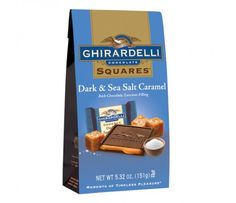 Dark Chocolate; Sea Salt Caramel SQUARES :  One per day makes me very very happy:)