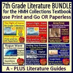 "This is a HUGE bundle which includes teaching resources for the following SIX selections from the 7th Grade Houghton Mifflin Harcourt Collections Textbook and Close Reader: ""Rogue Wave"", ""Finding Your Everest"", ""Media Analysis: Covering Issues in the News"", ""The Flight of Icarus"" myth,"